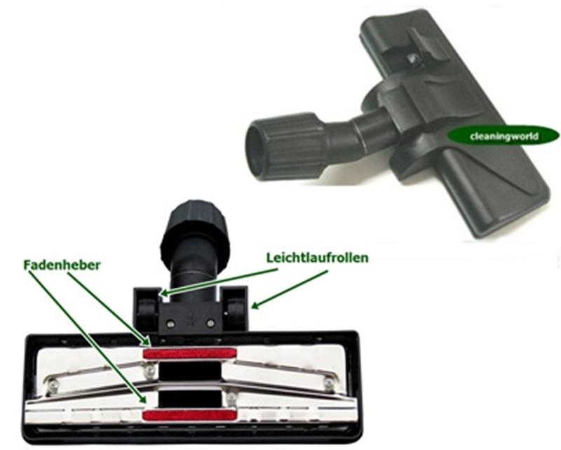 TOP Kombidüse, 2 Gleitrollen für Teppich & Hartböden für AEG Staubsauger